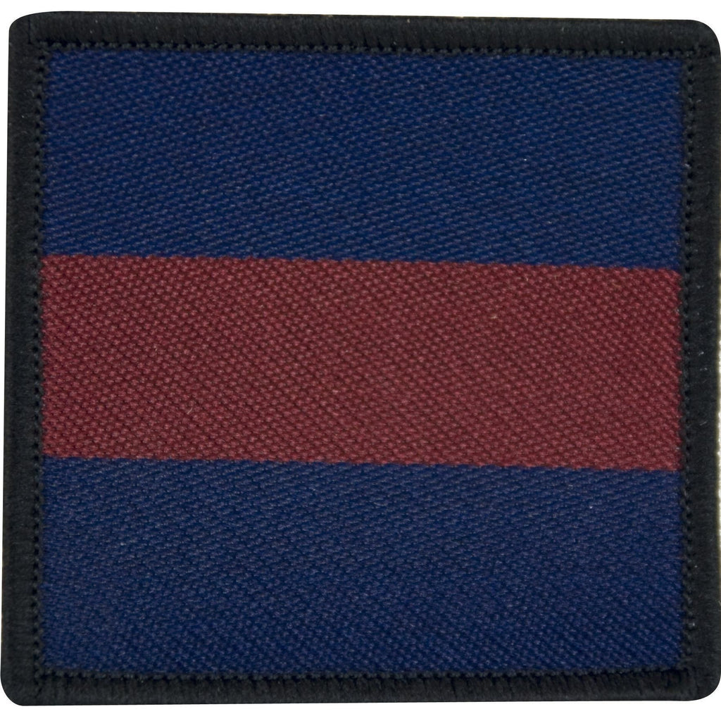 TRF - Household Cavalry - Navy/Maroon/Navy - 55 x 55mm [product_type] Ammo & Company - Military Direct