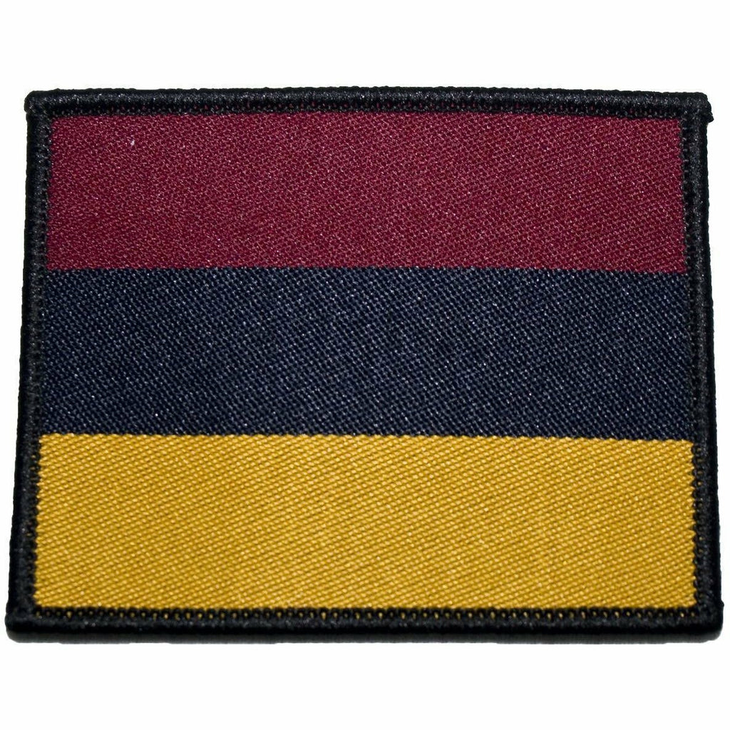 TRF - RAMC - Maroon/Navy/Yellow Horizontal Stripes - 66 x 53mm [product_type] Ammo & Company - Military Direct