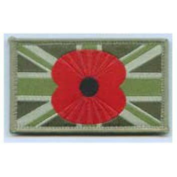 Union Flag Tactical Patch with Poppy