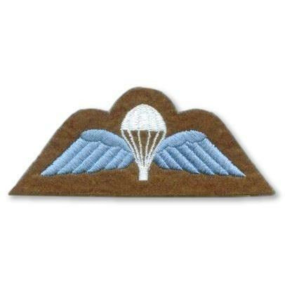 Ammo & Company Badge - Para Wings - Sky Blue on Khaki - Embroidered