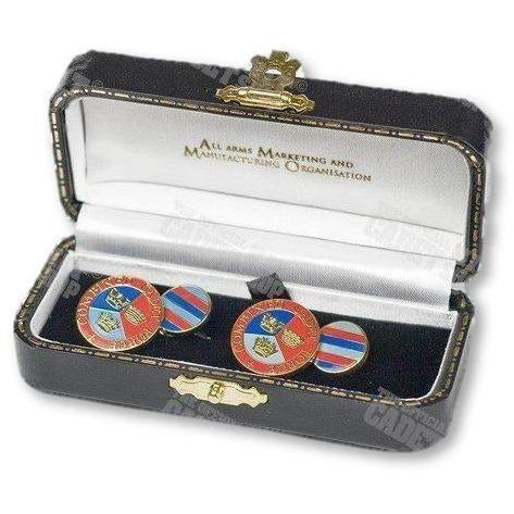 Ammo & Company Cufflinks & Ties Combined Cadet Force Enameled Gilt Plated Cufflinks