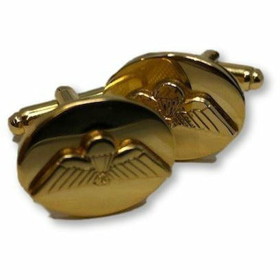 Ammo & Company Cufflinks - PARA Jump Wing - Mounted - Gilt - T-Bar