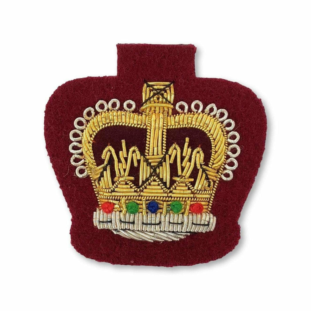 Ammo & Company Mess Dress Crowns - WO2 - ME307 Medical Maroon Ground