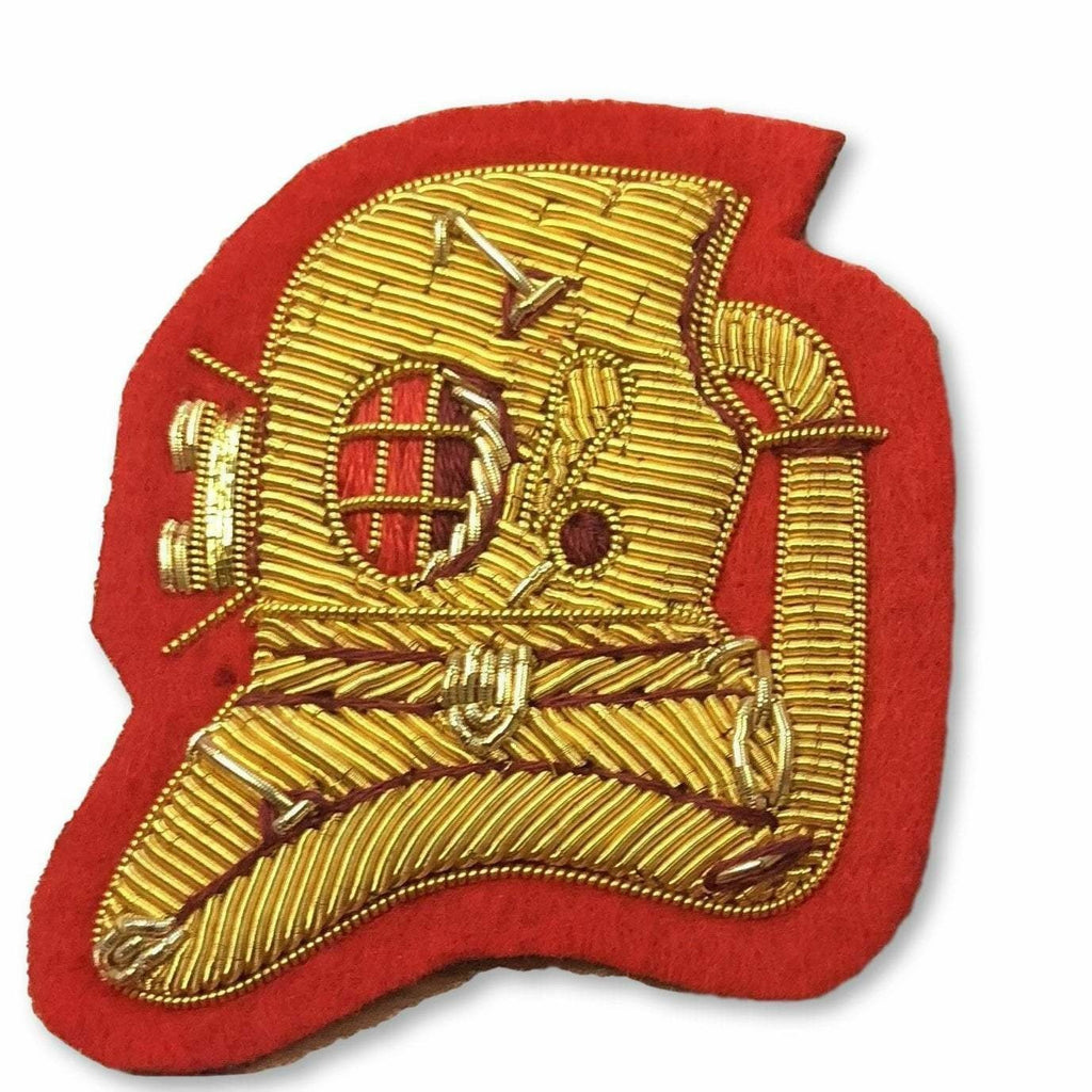 Ammo & Company Mess Dress- Qualification Badge - Advanced Divers Badge - Gold on Scarlet Ground