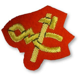 Ammo & Company Mess Dress- Qualification Badge-Artificer -  Gold on Scarlet Ground