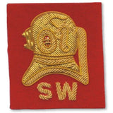 Ammo & Company Mess Dress- Qualification Badge-Divers (Shallow Water )  - Gold on Scarlet Ground