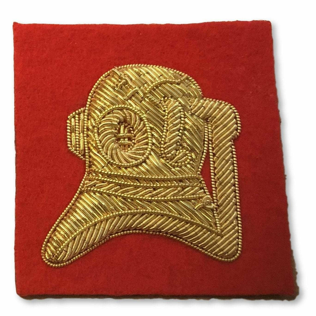 "Ammo & Company Mess Dress- Qualification Badge - ""Standard"" Divers Badge - Gold on Scarlet Ground"