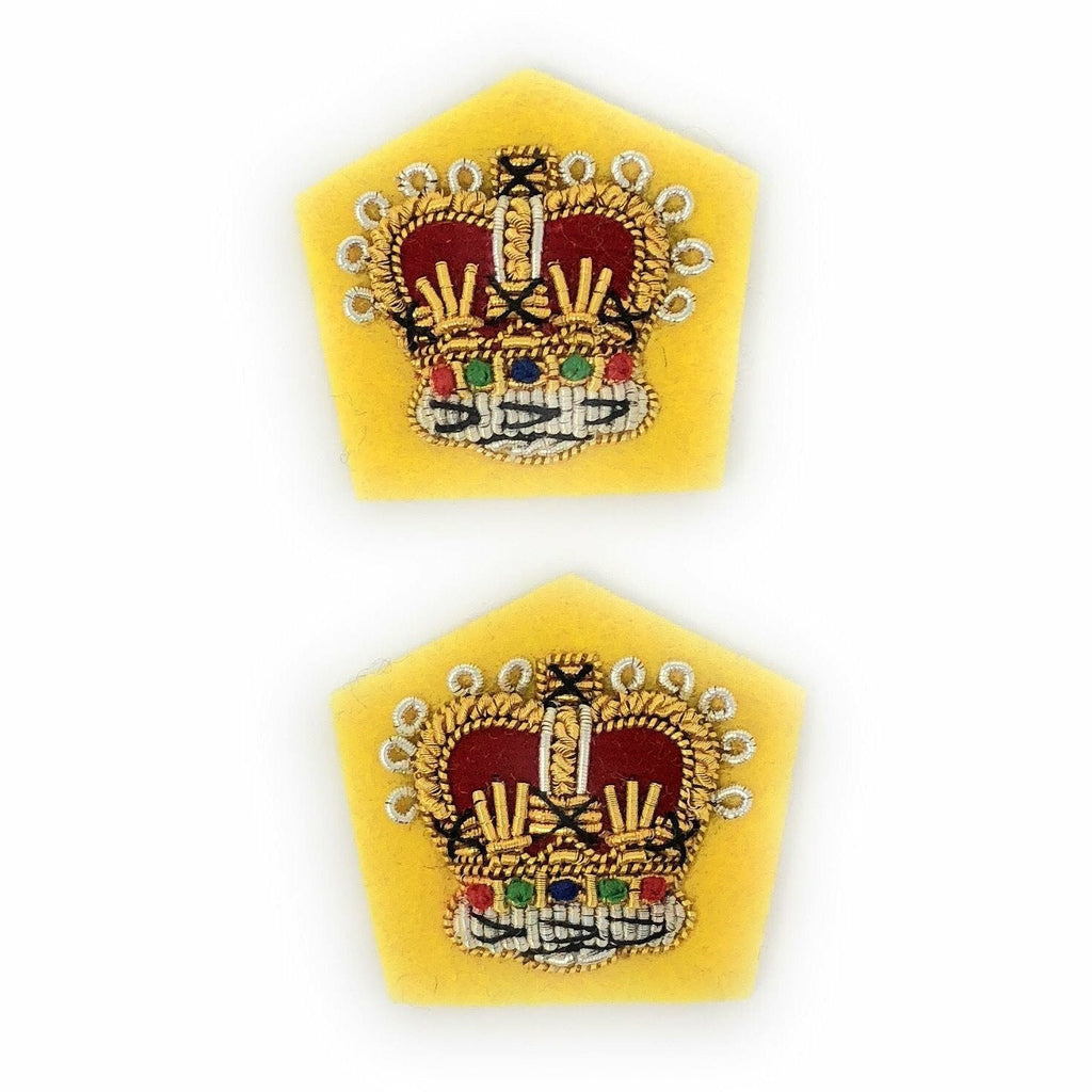 No1 Dress Crown - RSDG - Yellow Backing - Pairs [product_type] Ammo & Company - Military Direct