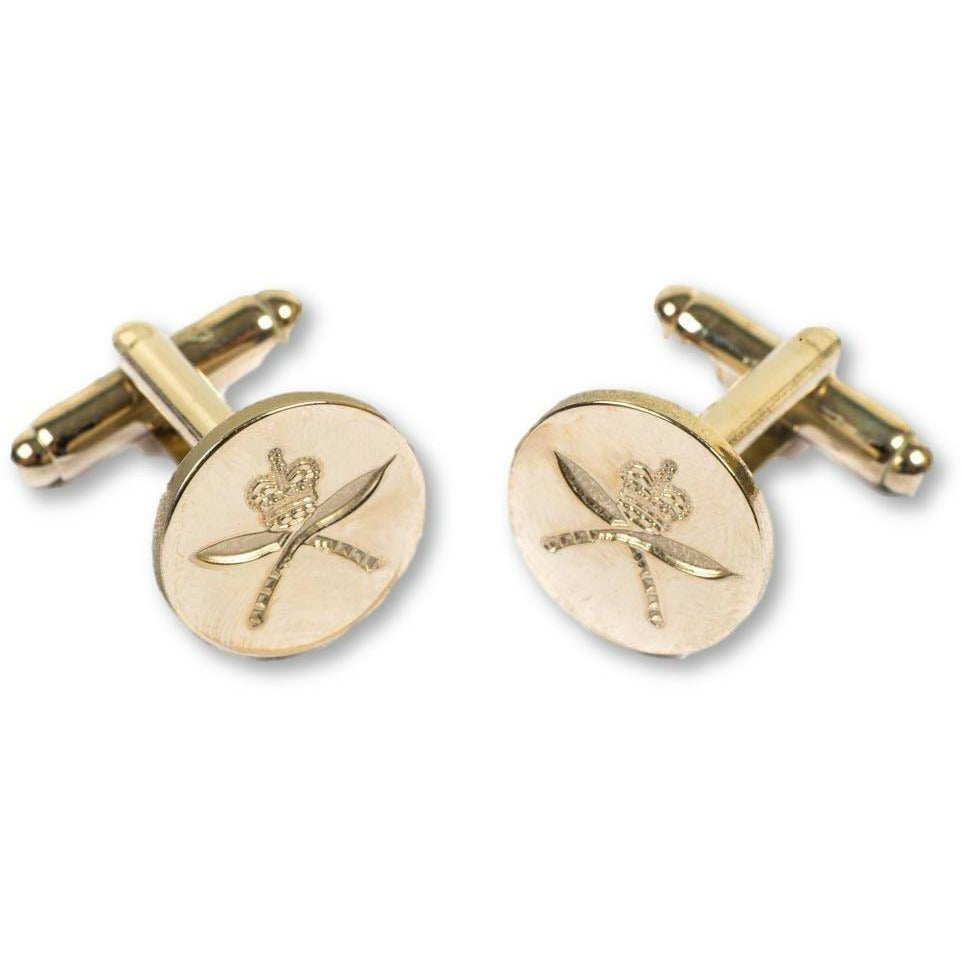 Ammo & Company RGR-Cufflinks- Indented -Dead Gilt Burnished -Boxed