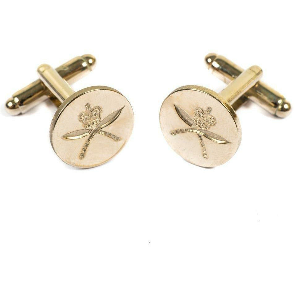 RGR-Cufflinks- Indented -Dead Gilt Burnished -Boxed [product_type] Ammo & Company - Military Direct