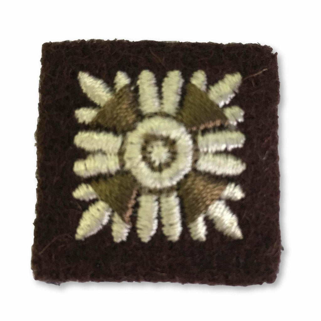 Ammo & Company Star -25mm- Brown& Cream Embroidered - RSDG