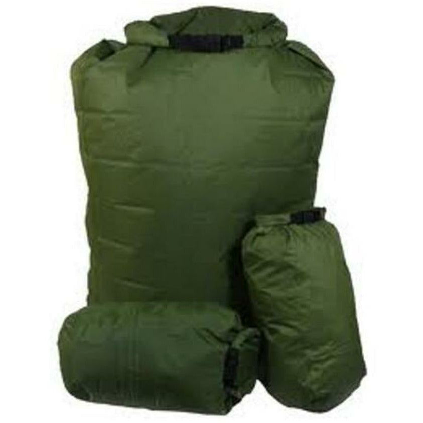 Exped Exped 100% Waterproof Bergan 1 x 140L & 2 x 13L Pocket Liners - Olive
