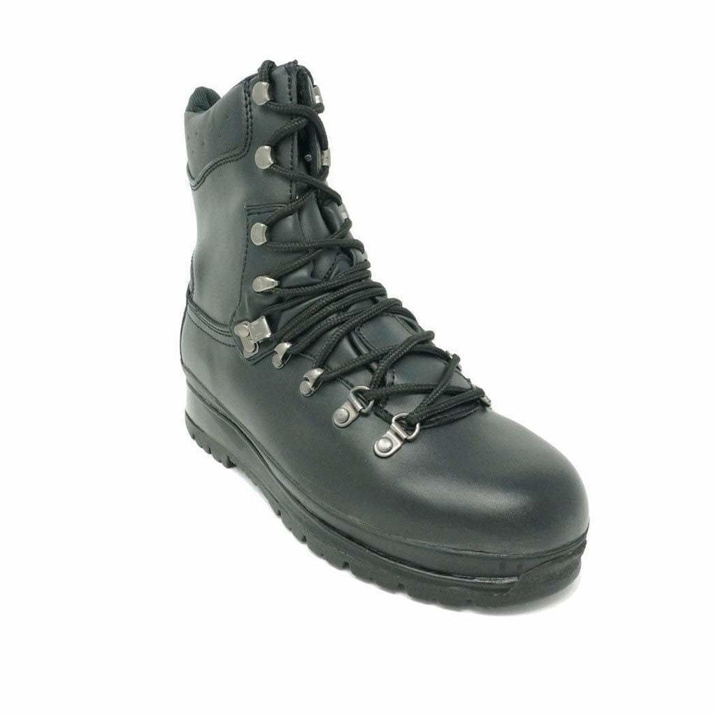 Highlander Black Waterproof Leather Elite Boot - Youth Sizes 3 to 5 MoD Black Boots Highlander - Military Direct