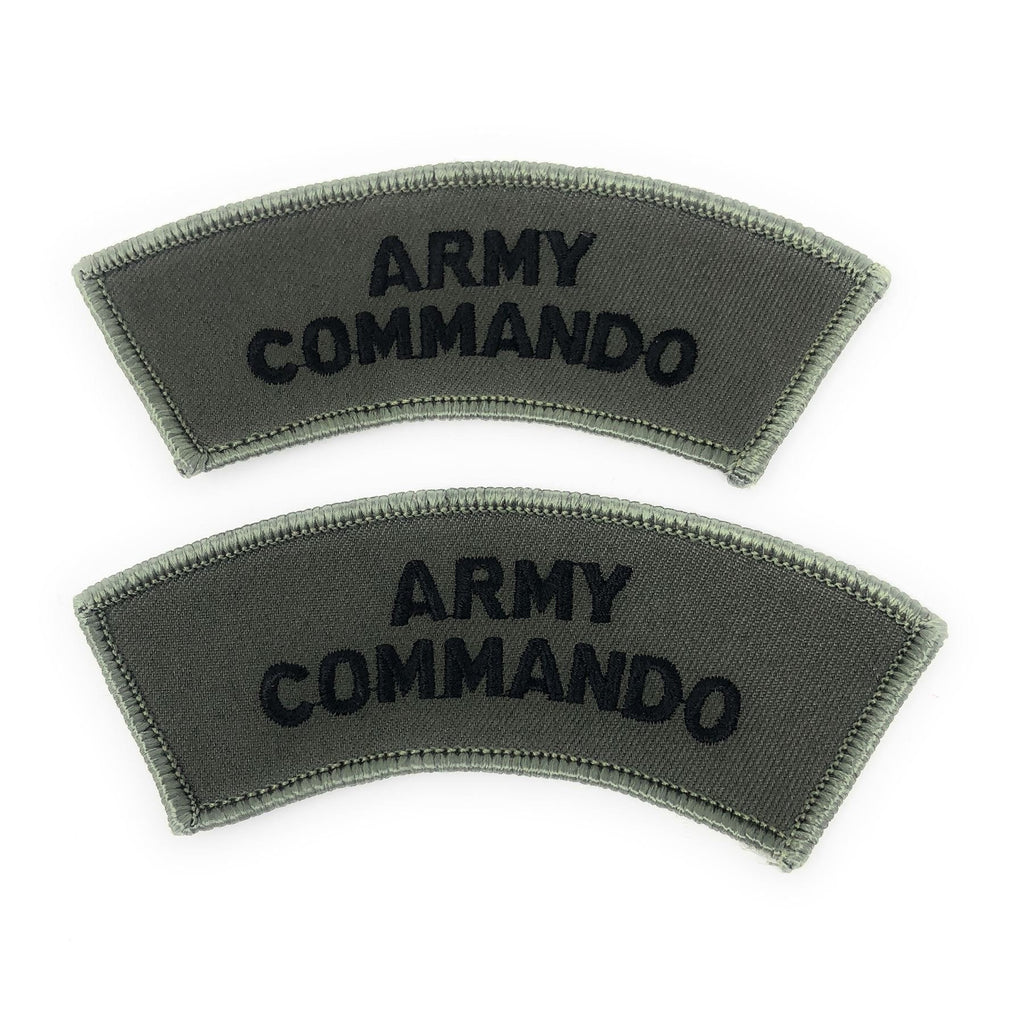Army Commando Shoulder Title -Black on Olive [product_type] Military.Direct - Military Direct