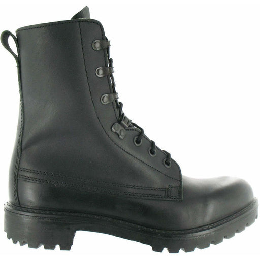 Military Direct Cadet MoD Black Boots Lightweight Black Leather Ranger Assault Boots - Youth Sizes 3 to 5