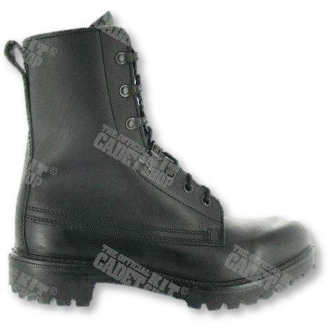 Lightweight Black Leather Ranger Assault Boots - Youth Sizes 3 to 5 MoD Black Boots Military Direct - Military Direct