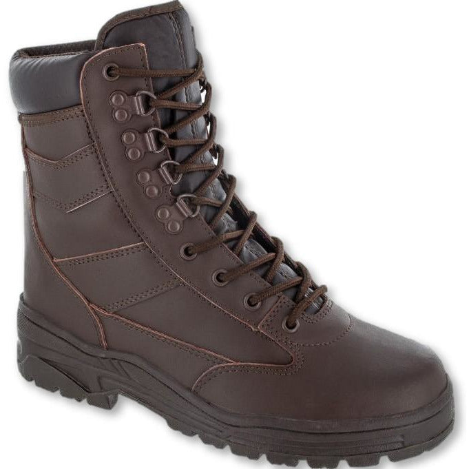 Delta Brown Full Leather Patrol Boots in Sizes 6 to 13 MoD Brown Boots Military Direct - Military Direct
