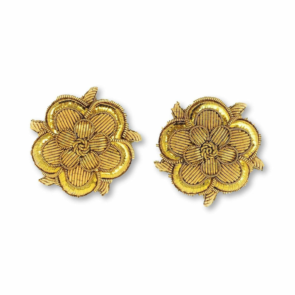 Military.Direct Deputy Lieutenants Shoulder Roses - B/W - Pairs