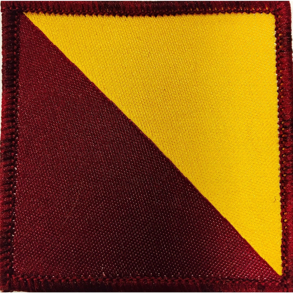 Helmet Patch - RRF Maroon/Primrose [product_type] Military.Direct - Military Direct