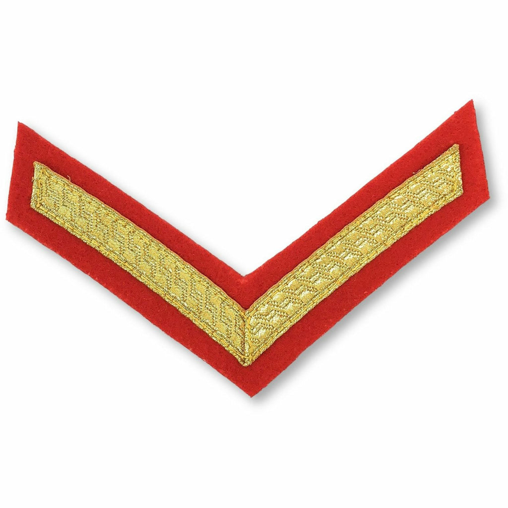 Mess Dress - Chevrons - Gold on Scarlet - L/Cpl [product_type] Military.Direct - Military Direct