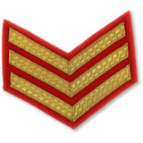 Mess Dress -Chevrons - Gold on Scarlet - Sgt [product_type] Military.Direct - Military Direct