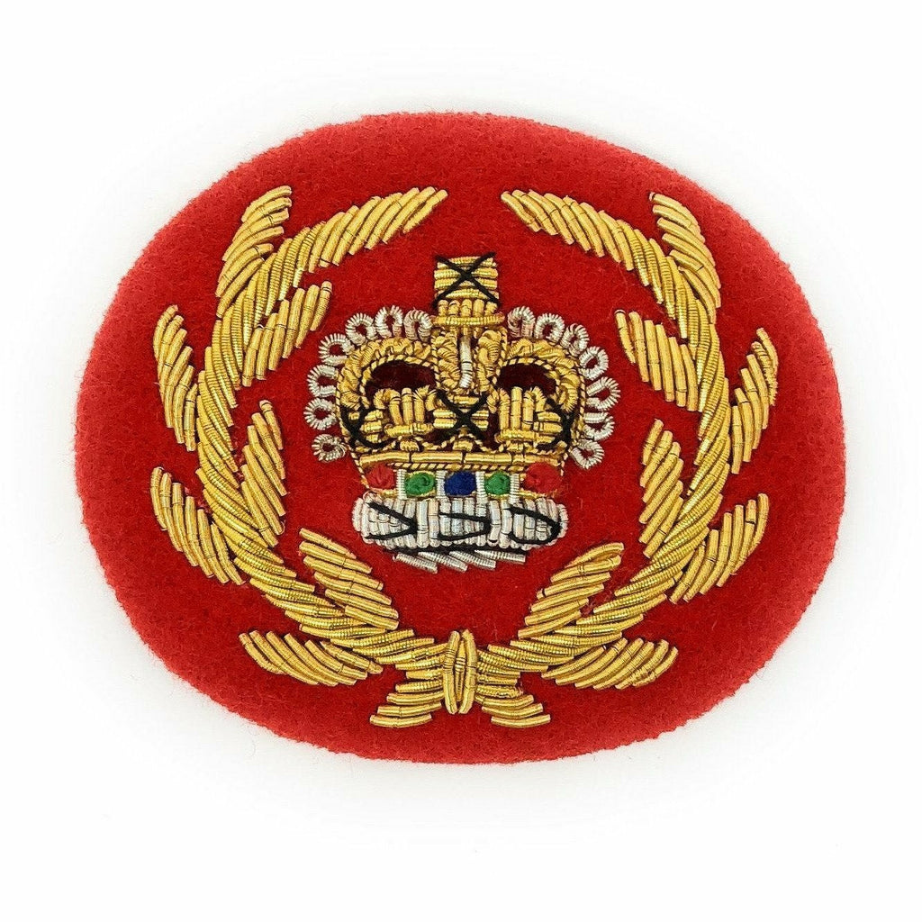 Mess Dress Crown - RQMS - Gold on Scarlet Ground [product_type] Military.Direct - Military Direct