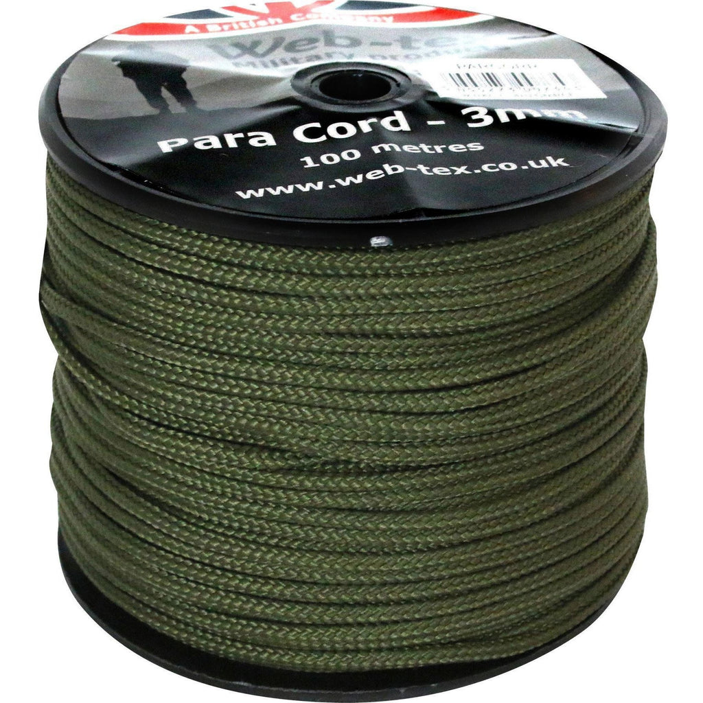 Olive Green 3mm Paracord Reel - 100m [product_type] Military.Direct - Military Direct