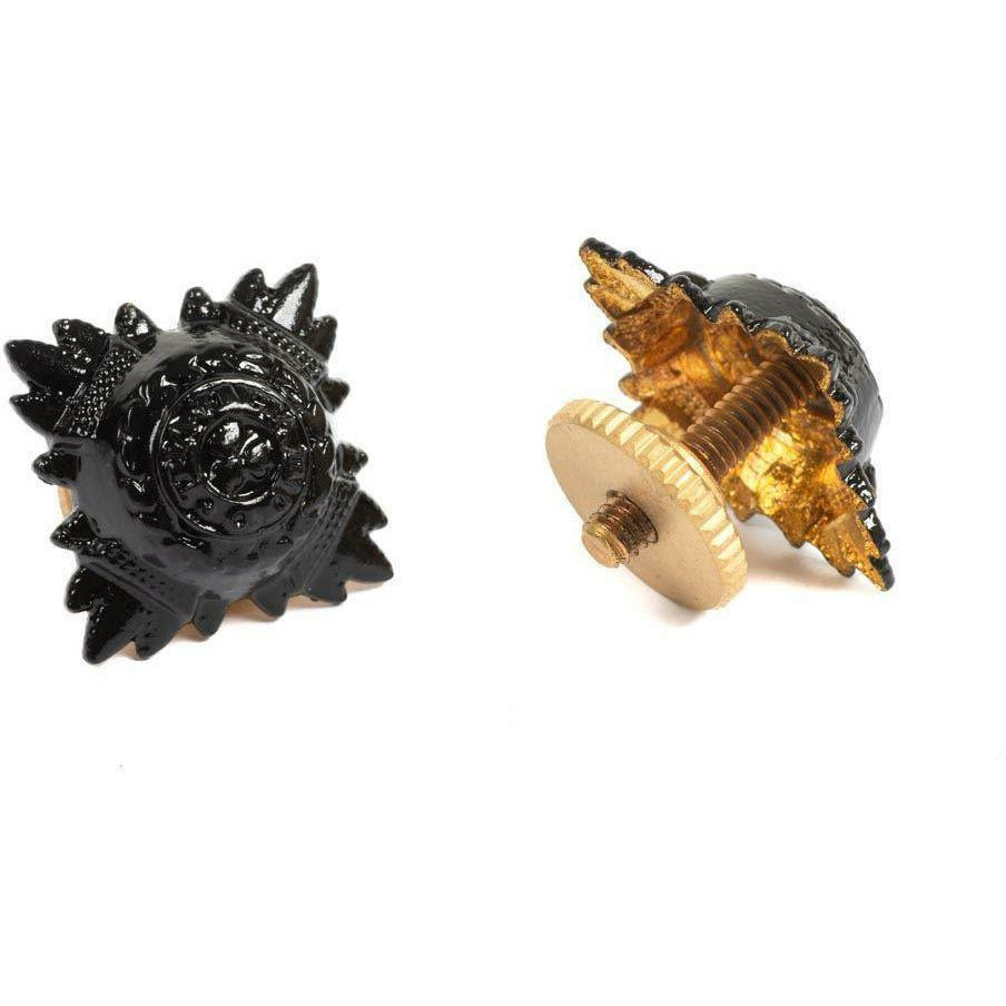 Rank Stars - 5/8 - Bath Star (Black) - Screw Fitting [product_type] Military.Direct - Military Direct