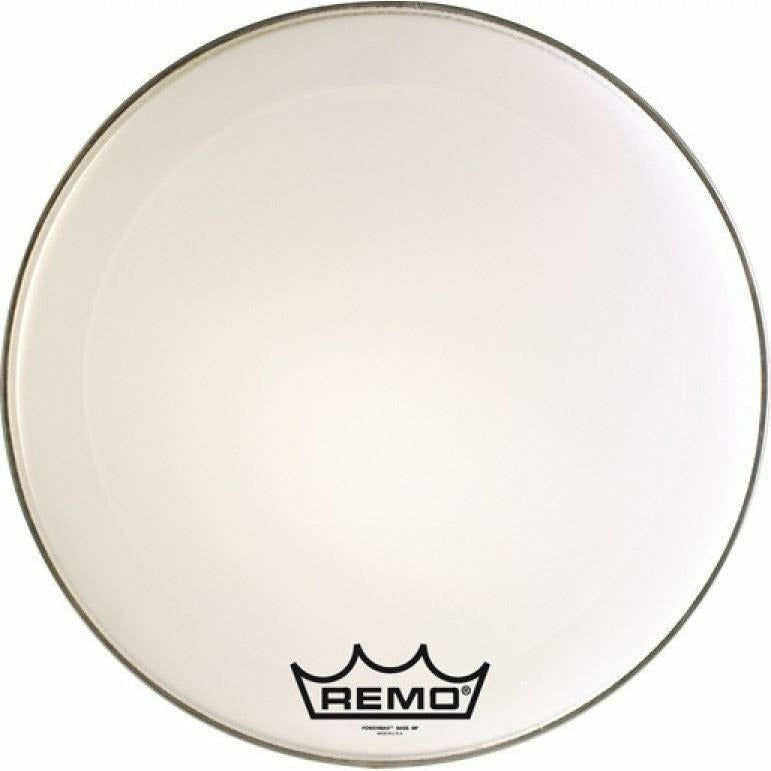 Remo 28 inch Powermax Ultra White Marching Bass Drum Head [product_type] Military.Direct - Military Direct