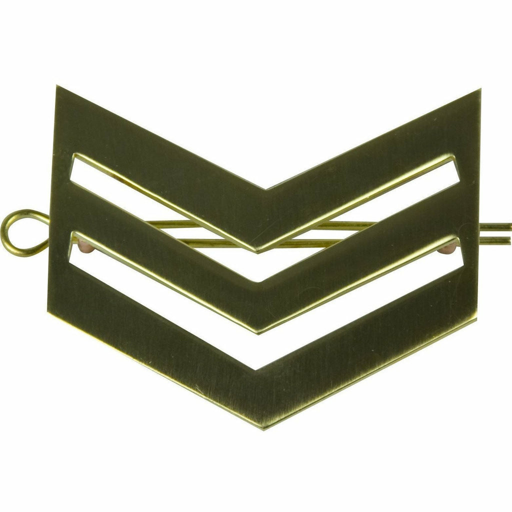 Sgt Brass Chevrons with Shanks [product_type] Military.Direct - Military Direct