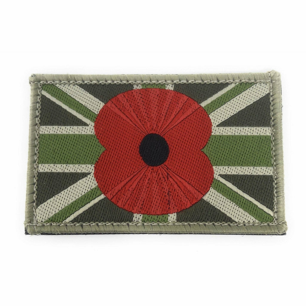 Military.Direct TRF & Union Patches Union Flag Tactical Patch with Poppy