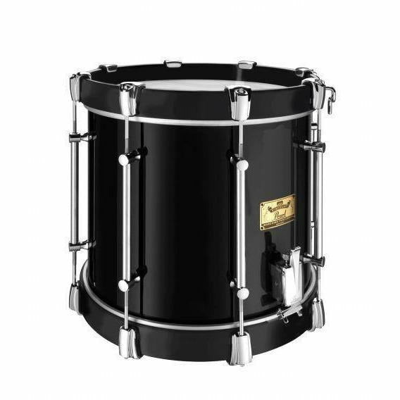 "Viscount Model Pearl Military Side Drum (Single Snare) 14"" x 12"" Black (B#46) Black Wooden Counterhoops [product_type] Pearl - Military Direct"
