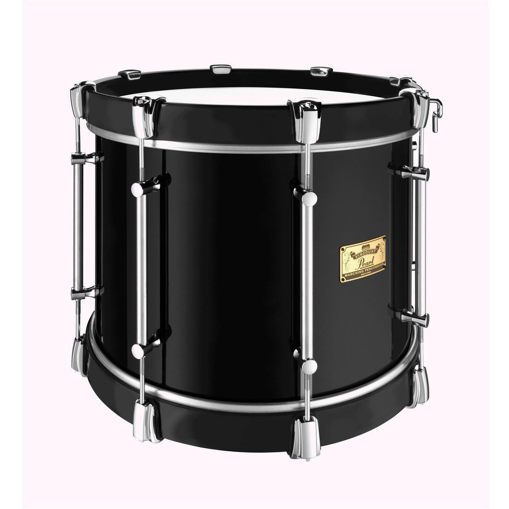 "Viscount Model Pearl Military Tenor 16"" x 12"" Black (B#46) Black wooden Counterhoops [product_type] Pearl - Military Direct"