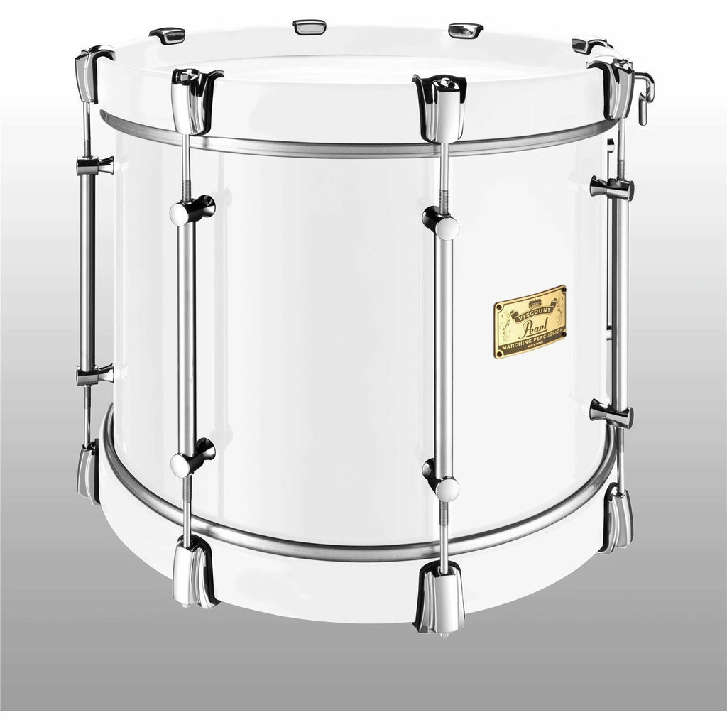 "Viscount Model Pearl Military Tenor 16"" x 12"" White (W#33) White Wooden Counterhoops [product_type] Pearl - Military Direct"