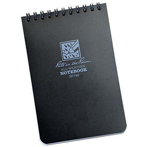 Rite in the Rain Pocket Notebook 4 x 6 - Black [product_type] Rite in the Rain - Military Direct