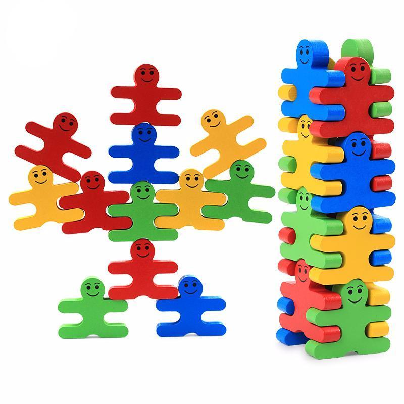 Baby Wooden Toys Blocks Balance Game Classic Natural Playthings