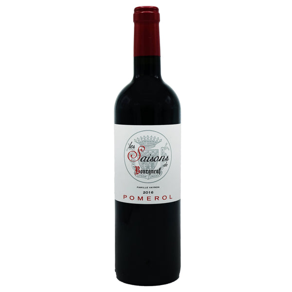 Château Bourgneuf, 'Saisons' Pomerol 2016 from Château Bourgneuf - Parcelle Wine