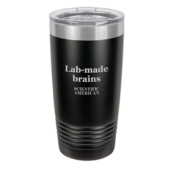 Lab-Made Brains Headline Laser Etched Tumbler