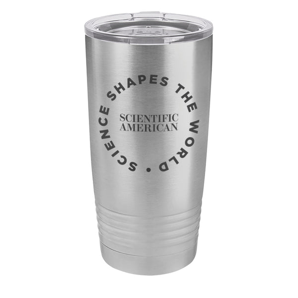 Science Shapes The World Circle Design Laser Etched Tumbler