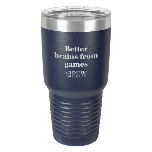 Better Brains From Games Headline Laser Etched Tumbler