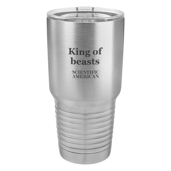 King Of Beasts Headline Laser Etched Tumbler