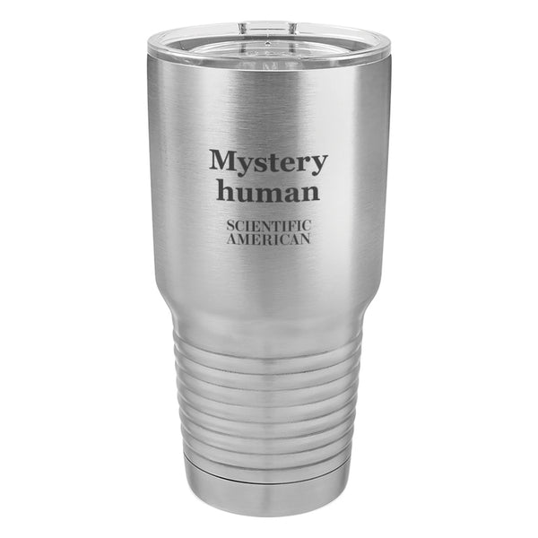 Mystery Human Headline Laser Etched Tumbler