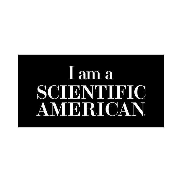 I Am A Scientific American Sticker