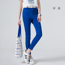 Toyouth 2017 New Women Pants Candy Color Ankle-Length Pencil Pants Female Elastic Waist Skinny Capris