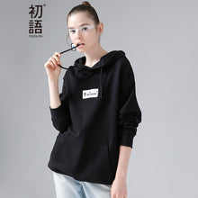 Toyouth Sweatshirt 2017 Spring Letter Printed Casual Women Loose Long Sleeve Pullovers Hoodie