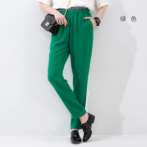 Toyouth High Quality 2017 Womens Casual Harem Pants Women Trousers Casual Pants Full Length Summer Slim pantalon mujer