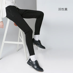 Toyouth New Style Women Casual Cotton Full Length Pants Autumn Fashion Button Pockets Pencil Pants