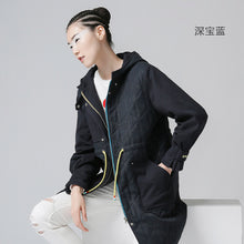 Toyouth New Arrival Casual Women Solid Full Trench Coat Autumn Embroidery Fashion Hooded Collar Long Trench Coat