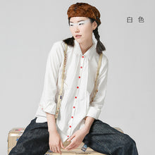 Toyouth New Arrival Women Casual Cotton Full Shirts Autumn Button Turn-down Collar Blouses Shirts
