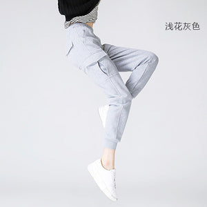 Toyouth Sweatpants 2017 Autumn Women Solid Color Pocket Casual Full Length Ankle-Tied Harem Pants